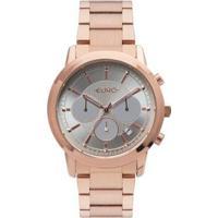 Relógio Euro Multi Basics Pushers Rosé Feminino - Feminino-Rose Gold
