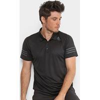 Camisa Polo Adidas Climacool Masculina - Masculino-Preto