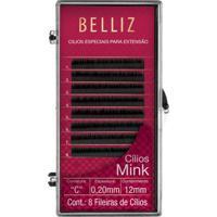 Cílios Para Alongamento Belliz - Mink C 020 12Mm 1 Un - Feminino-Incolor