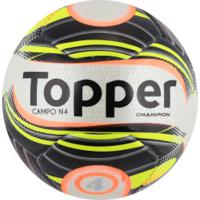 f860aff1f0 Bola De Futebol De Campo Topper Champion N4 - Branco Preto