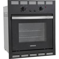 Forno A Gás Embutir Venax Totale Nero 50L Preto