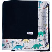 Cobertor Antialã©Rgico Soft Dinossauro- Azul Marinho & Brbiramar