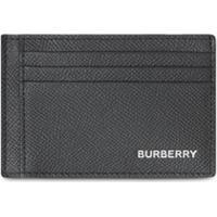 Burberry Porta-Cartões De Couro Granulado - Preto