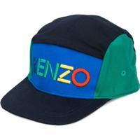 Kenzo Kids Boné Com Logo Bordado - Azul