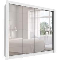 Guarda-Roupa Casal Com Espelho Bálsamo 4 Pt 4 Gv Branco