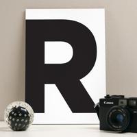 Placa Decorativa - R