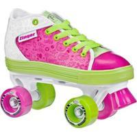 Patins Infantil Quad Roller Derby Zinger Girl - Feminino