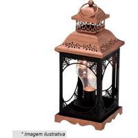 Lanterna Decorativa Com Detalhes Vazados- Preta & Douradmabruk