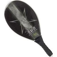 Raquete De Frescobol Evo Classic - Unissex-Branco+Cinza
