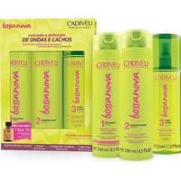 Cadiveu Kit Bossa Nova Shampoo 250Ml + Condicionador 250Ml + Maxi Ondas 215Ml - Feminino-Incolor