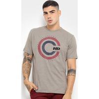 Camiseta Hd Retro Masculina - Masculino-Bege