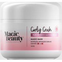 Amaro Feminino Magic Beauty Máscara De Nutrição Magic Mask Curly Crush Curvatura 3B A 4C - 500G, Neutra
