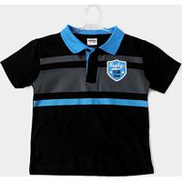 Camisa Polo Infantil Fakini Kids Logo Bordado Masculino - Masculino
