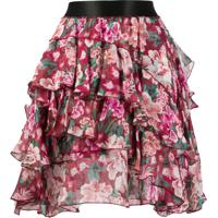 Faith Connexion Tired Floral Printed Skirt - Rosa