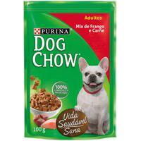 Ração Para Cães Dog Chow Adulto Sachê Sabor Mix De Frango E Carne 100G