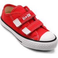 Tênis Infantil Converse All Star Ct Border 2 Velcros - Unissex-Vermelho