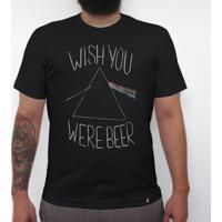 Wish You Were Beer - Camiseta Clássica Masculina