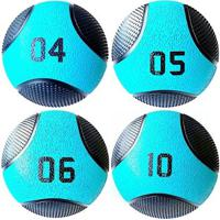 Kit 4 Medicine Ball Liveup Pro 4 5 6 E 10 Kg Bola De Peso Treino Funcional - Unissex