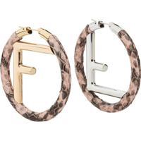 Fendi F Is Fendi Earrings - Rosa