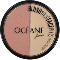 Blush Bicolor Océane Femme Blush Your Face Peach White Pink 9,3G - Feminino-Incolor
