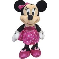 Pelúcia 18 Cm - Disney - Minnie Mouse - Saia De Bolinhas - Dtc - Unissex