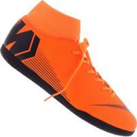 Chuteira Futsal Nike Mercurial Superfly X 6 Club Ic - Adulto - Laranja Esc/Preto