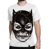 Camiseta Artseries Catwoman (Mulher Gato) Branca