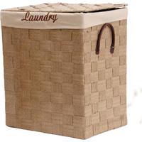 Cesto De Roupa De Fibra De Palha Laundry Bege 47X39X29Cm - 14363