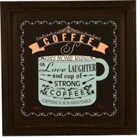 Quadro Decorativo De Parede Com Moldura Strong Coffee