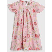 Vestido Colorittá Infantil Floral Rosa