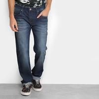 Calça Jeans Reta Colcci Alex Estonada Masculina - Masculino-Azul