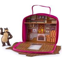 Playset E Mini Figura - Masha E O Urso - Casa Do Urso - Sunny - Feminino-Incolor