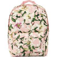 Dolce & Gabbana Kids Mochila Com Estampa Floral - Rosa