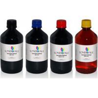 Kit 4 Tinta Para Bulk Ink Epson Universal Corante Cmyk De 1L