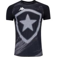 Camiseta Do Botafogo Fio Tinto 2019 Kappa - Masculina - Cinza Esc Mescla