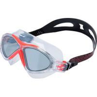 Óculos De Natação Speedo Ômega - Adulto - Laranja/Cinza Escuro