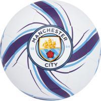 Bola De Futebol De Campo Manchester City Vcf Future Flare Puma - Branco/Roxo