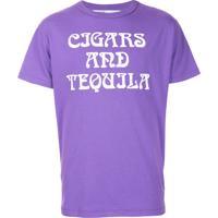 Off-White Camiseta 'Cigars And Tequila' - Pink & Purple