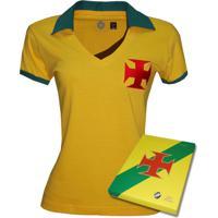 1dd5a80e8e Netshoes  Camisa Liga Retrô Vasco Brasil Feminino- Edição Limitada -  Feminino