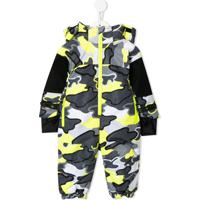 Stella Mccartney Kids Camouflage Print Snowsuit - Cinza