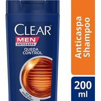 Shampoo Anticaspa Clear Men Queda Control 200Ml - Masculino-Incolor