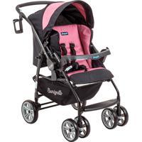 Carrinho De Bebê De 0 À 15Kg At6 K-Burigotto - Preto / Rosa