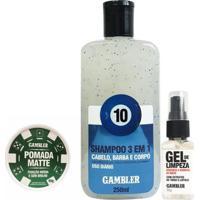 Kit Shampoo 250Ml + Pomada Matte Média 65G - Gambler - Branca - Unissex