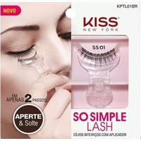 Cílios Postiços Inteiriços Com Aplicador So Simple Lash 01 Kiss New York - Feminino-Incolor