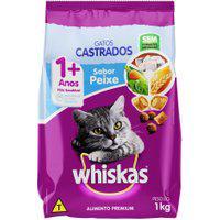 Ração Para Gatos Castrados Whiskas Adultos 1+ Anos Sabor Peixe 1Kg