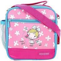 Lancheira Térmica Infantil Jacki Design Cute Girl Feminina - Feminino-Pink