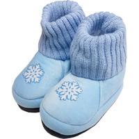 Pantufa Infantil Feminina Em Pelúcia Para Inverno - Floco De Neve