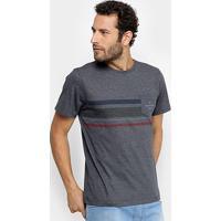 Camiseta Quiksilver Especial Heat Wave Pocket Masculina - Masculino-Marinho