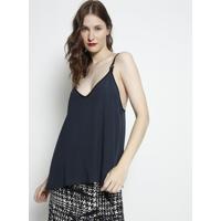 Blusa Lisa Com Tag- Azul Escuro & Preta- Forumforum