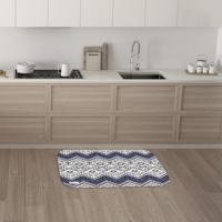 Tapete De Cozinha Mdecore Abstrato Branco 40X60Cm